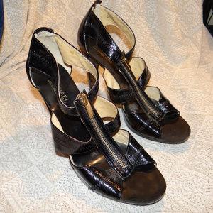 """Michael Kors Black Patent """"Berkley"""" Heels Size 10"""